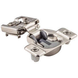 """105° 5/8"""" Overlay Heavy Duty Dura-Close® Soft-close Compact Hinge with Press-in 8 mm Dowels"""