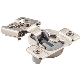 """105° 1/2"""" Overlay Compact Dura-Close® Soft-close Hinge with 2 Cleats and Press-in 8mm Dowels."""