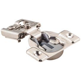 """105° 1/2"""" Overlay Heavy Duty Dura-Close® Soft-close Compact Hinge with 2 Cleats and without Dowels."""