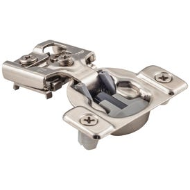 """105° 7/16"""" Overlay Heavy Duty Dura-Close® Soft-close Compact Hinge with Press-in 8 mm Dowels"""