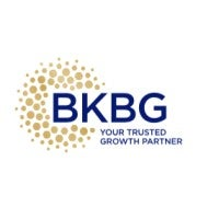 Logo for BKBG, with a slogan that says Your Trusted Growth in Partner.