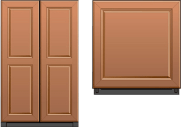 Overlay or Integrated Appliance Panels